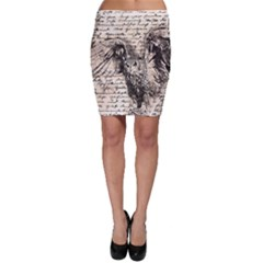 Vintage owl Bodycon Skirt