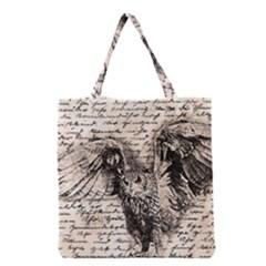 Vintage owl Grocery Tote Bag