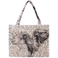 Vintage owl Mini Tote Bag
