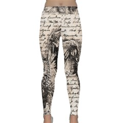 Vintage owl Classic Yoga Leggings