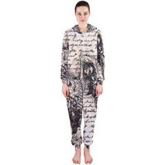 Vintage owl Hooded Jumpsuit (Ladies)