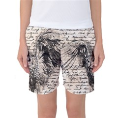 Vintage owl Women s Basketball Shorts