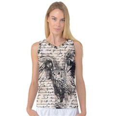 Vintage owl Women s Basketball Tank Top