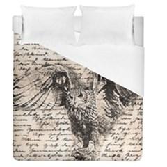 Vintage owl Duvet Cover (Queen Size)