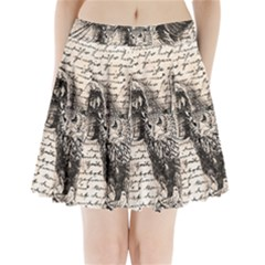 Vintage owl Pleated Mini Skirt