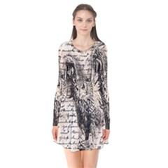 Vintage owl Flare Dress