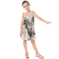 Vintage owl Kids  Sleeveless Dress