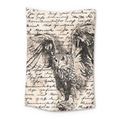 Vintage owl Small Tapestry