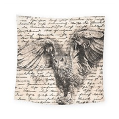 Vintage owl Square Tapestry (Small)