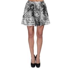 Vintage owl Skater Skirt