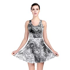 Vintage owl Reversible Skater Dress