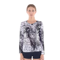 Vintage owl Women s Long Sleeve Tee