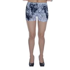 Vintage owl Skinny Shorts