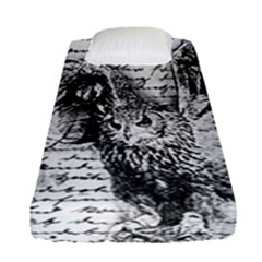 Vintage owl Fitted Sheet (Single Size)