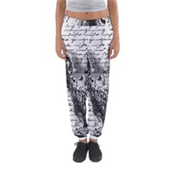 Vintage owl Women s Jogger Sweatpants