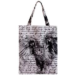 Vintage owl Zipper Classic Tote Bag