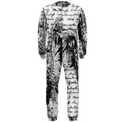 Vintage owl OnePiece Jumpsuit (Men)