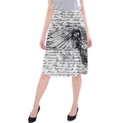 Vintage owl Midi Beach Skirt