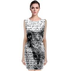 Vintage owl Classic Sleeveless Midi Dress