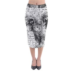 Vintage owl Midi Pencil Skirt
