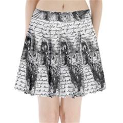Vintage owl Pleated Mini Skirt