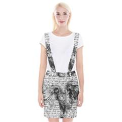Vintage owl Suspender Skirt