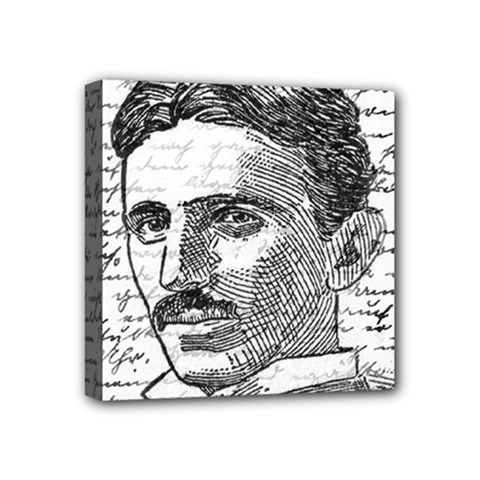 Nikola Tesla Mini Canvas 4  x 4