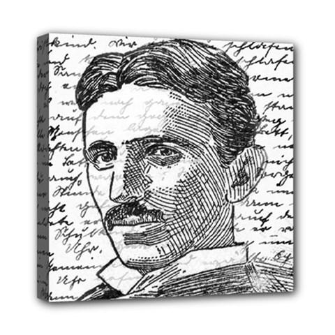 Nikola Tesla Mini Canvas 8  x 8