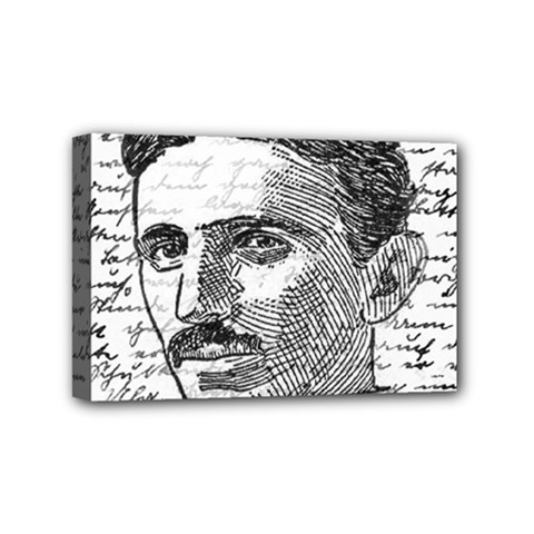 Nikola Tesla Mini Canvas 6  x 4