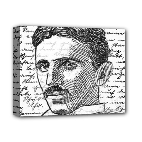 Nikola Tesla Deluxe Canvas 14  x 11