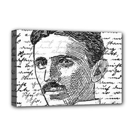 Nikola Tesla Deluxe Canvas 18  x 12