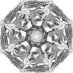 Nikola Tesla Golf Umbrellas