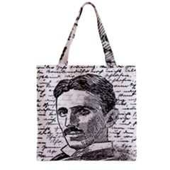 Nikola Tesla Grocery Tote Bag