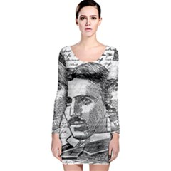 Nikola Tesla Long Sleeve Bodycon Dress