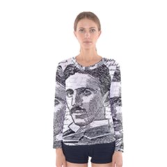 Nikola Tesla Women s Long Sleeve Tee