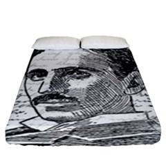 Nikola Tesla Fitted Sheet (Queen Size)