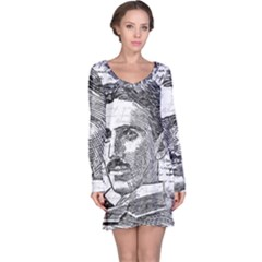 Nikola Tesla Long Sleeve Nightdress