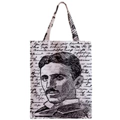 Nikola Tesla Zipper Classic Tote Bag