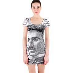 Nikola Tesla Short Sleeve Bodycon Dress