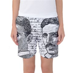 Nikola Tesla Women s Basketball Shorts