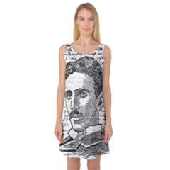 Nikola Tesla Sleeveless Satin Nightdress