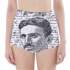 Nikola Tesla High-Waisted Bikini Bottoms
