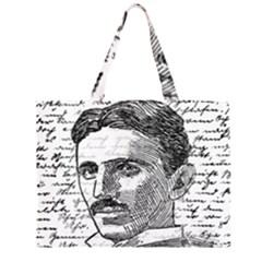Nikola Tesla Large Tote Bag