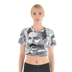 Nikola Tesla Cotton Crop Top