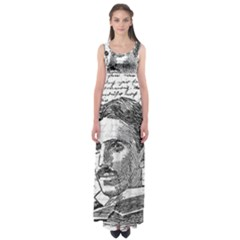 Nikola Tesla Empire Waist Maxi Dress