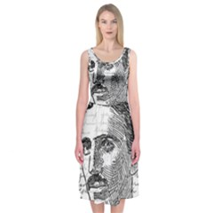 Nikola Tesla Midi Sleeveless Dress