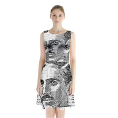 Nikola Tesla Sleeveless Chiffon Waist Tie Dress