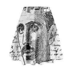 Nikola Tesla High Waist Skirt