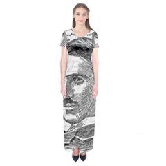 Nikola Tesla Short Sleeve Maxi Dress
