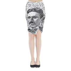 Nikola Tesla Midi Wrap Pencil Skirt